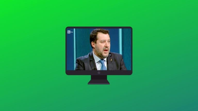 Salvini che vuol riaprire tutto, ma per la la festa della Liberazione ricorda il coprifuoco e le chiusure