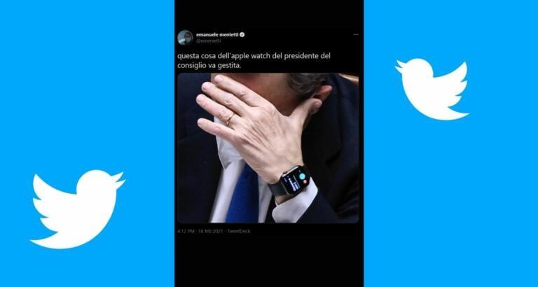 La cosa più social che avremo di Draghi è la foto del suo Apple Watch