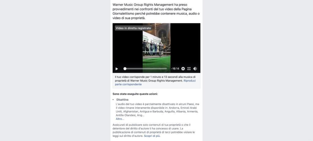 Diritto d'autore su Facebook