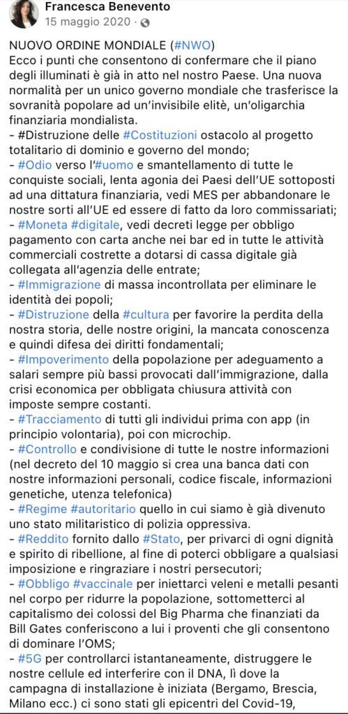 Francesca Benevento post 2