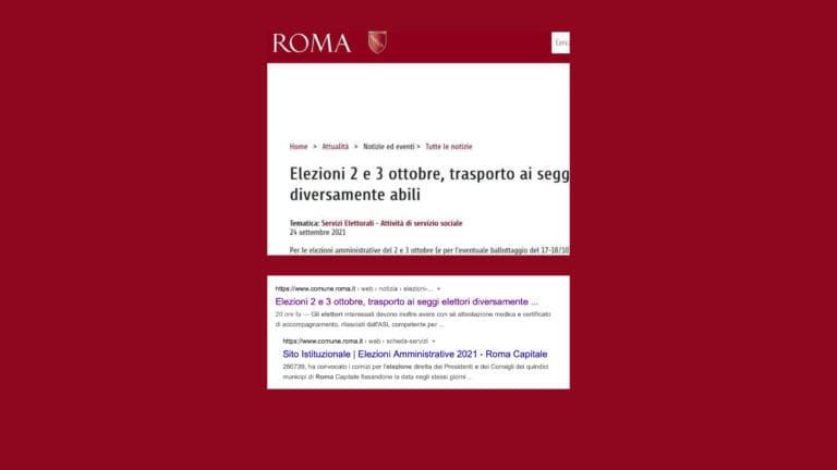 Per il sito ufficiale del comune di Roma, le elezioni si svolgeranno «il 2 e il 3 ottobre»