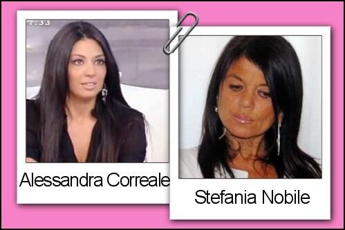 Somiglianza tra Alessandra Correale e Stefania Nobile