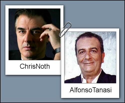 Somiglianza tra Alfonso Tanasi e Chris Noth