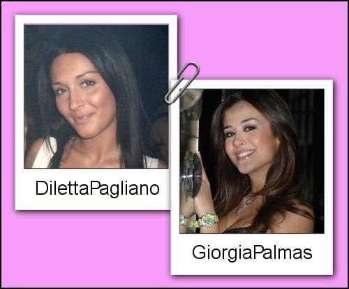 Somiglianza tra Diletta Pagliano e Giorgia Palmas