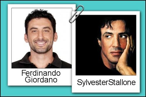 Somiglianza tra Ferdinando Giordano e Sylvester Stallone