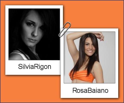 Somiglianza tra Silvia Rigon e Rosa Baiano