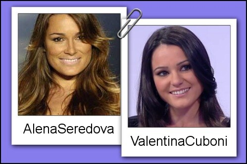 Somiglianza tra Valentina Cuboni ed Alena Seredova