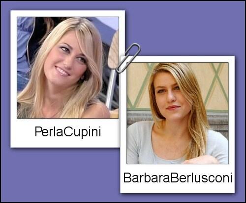 Somiglianza tra Perla Cupini e Barbara Berlusconi