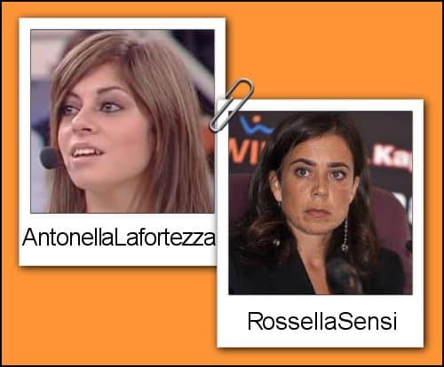 Somiglianza tra Antonella Lafortezza e Rosella Sensi
