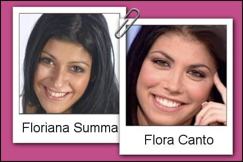 Somiglianza tra Flora Canto e Floriana Summa