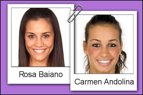 Somiglianza tra Rosa Baiano e Carmen Andolina