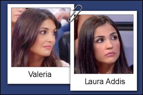 Somiglianza tra Valeria Bigella e Laura Addis