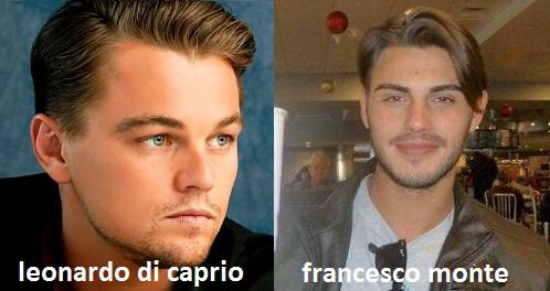 Somiglianza tra Francesco Monte e Leonardo Di Caprio