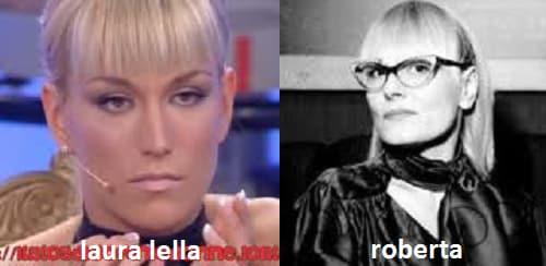 Somiglianza tra Laura Lella e Roberta de 'I Murr'