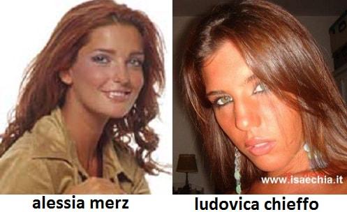 Somiglianza tra Ludovica Chieffo e Alessia Merz