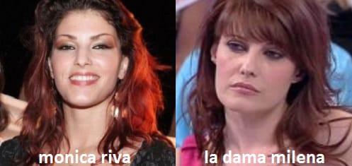 Somiglianza tra Monica Riva e Milena, dama del Trono over