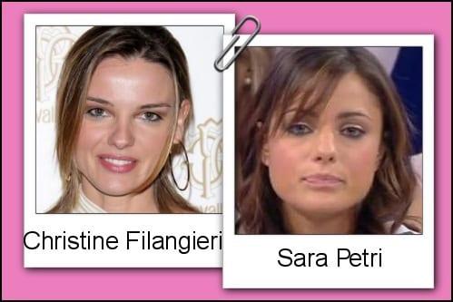 Somiglianza tra Sara Petri e Christine Filangeri