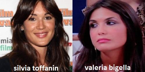 Somiglianza tra Valeria Bigella e Silvia Toffanin