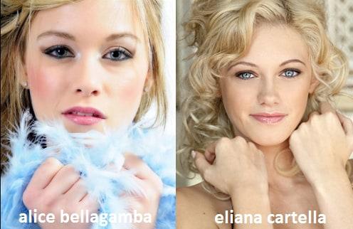 Somiglianza tra Alice Bellagamba ed Eliana Cartella