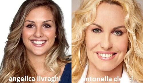 Somiglianza tra Angelica Livraghi e Antonella Clerici
