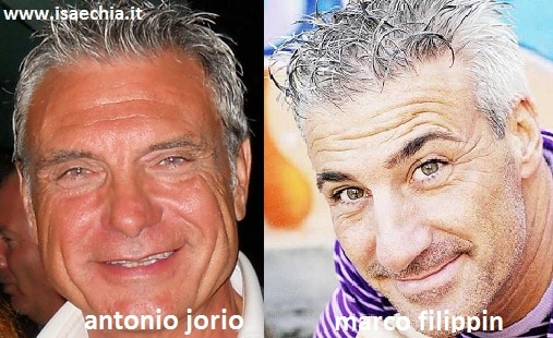 Somiglianza tra Antonio Jorio e Marco Filippin