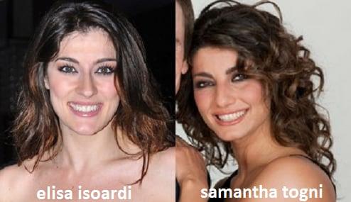 Somiglianza tra Elisa Isoardi e Samantha Togni