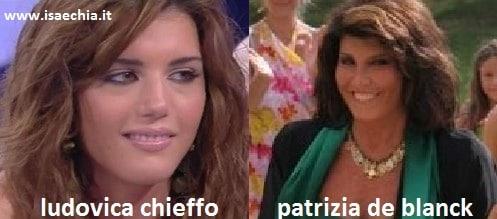 Somiglianza tra Ludovica Chieffo e Patrizia De Blanck
