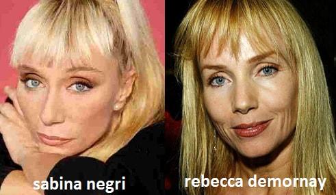 Somiglianza tra Sabina Negri e Rebecca DeMornay