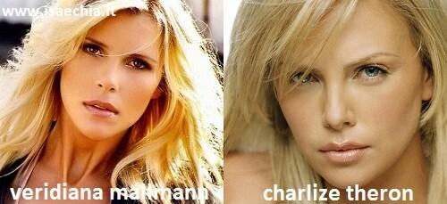 Somiglianza tra Veridiana Mallmann e Charlize Theron