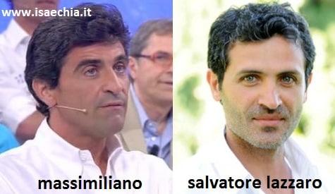 Somiglianza tra il cavaliere Massimiliano e Salvatore Lazzaro