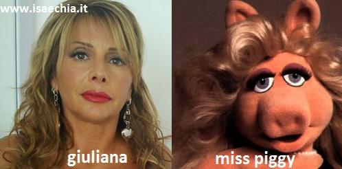 Somiglianza tra la dama Giuliana e Miss Piggy