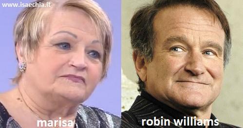 Somiglianza tra la dama Marisa e Robin Williams