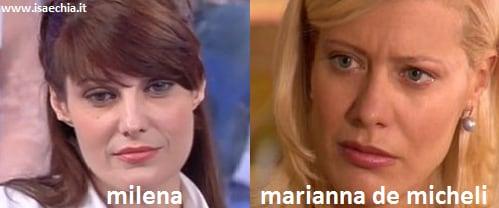 Somiglianza tra la dama Milena e Marianna De Micheli