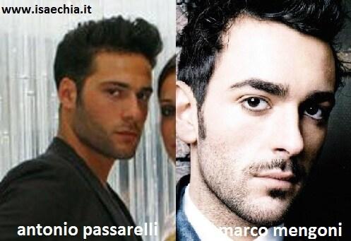 Somiglianza tra Antonio Passarelli e Marco Mengoni