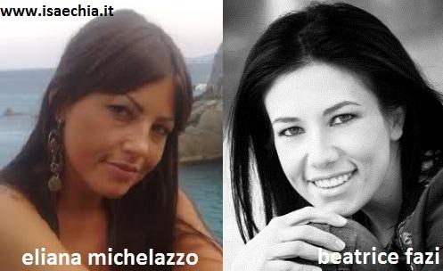 Somiglianza tra Eliana Michelazzo e Beatrice Fazi