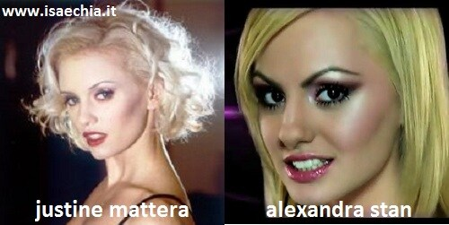 Somiglianza tra Justine Mattera e Alexandra Stan