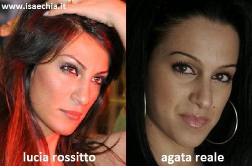 Somiglianza tra Lucia Rossitto ed Agata Reale