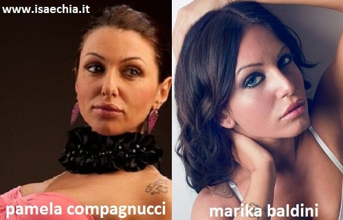 Somiglianza tra Pamela Compagnucci e Marika Baldini
