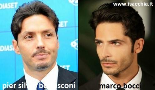 Somiglianza tra Pier Silvio Berlusconi e Marco Bocci