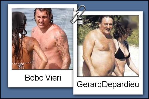 Somiglianza tra Bobo Vieri e Gerard Depardieu
