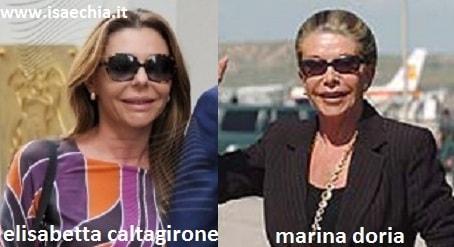 Somiglianza tra Elisabetta Caltagirone e Marina Doria