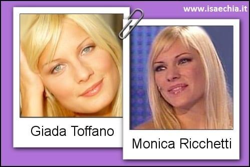 Somiglianza tra Giada Toffano e Monica Richetti