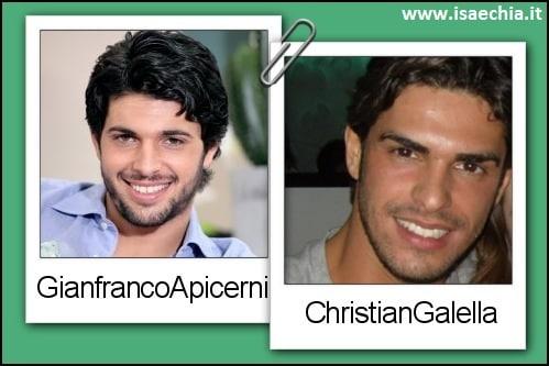 Somiglianza tra Gianfranco Apicerni e Cristian Gallella