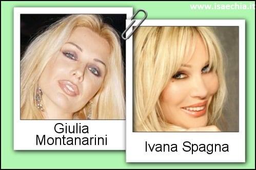 Somiglianza tra Giulia Montanarini e Ivana Spagna
