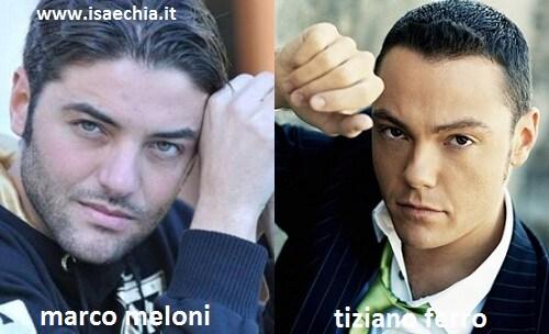 Somiglianza tra Marco Meloni e Tiziano Ferro