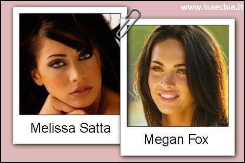 Somiglianza tra Melissa Satta e Megan Fox