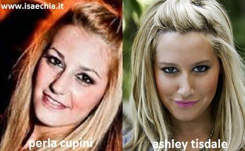 Somiglianza tra Perla Cupini e Ashley Tisdale