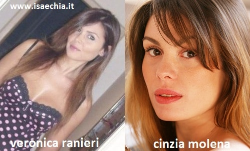 Somiglianza tra Veronica Ranieri e Cinzia Molena