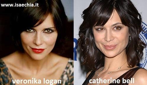 Somiglianza tra Veronika Logan e Catherine Bell