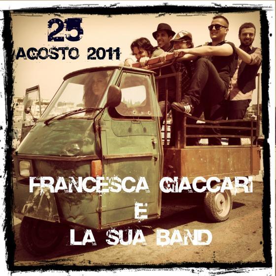 Francesca Giaccari e la sua band